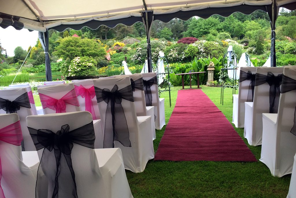 Wedding Marquee with a view at Glenwhan Gardens